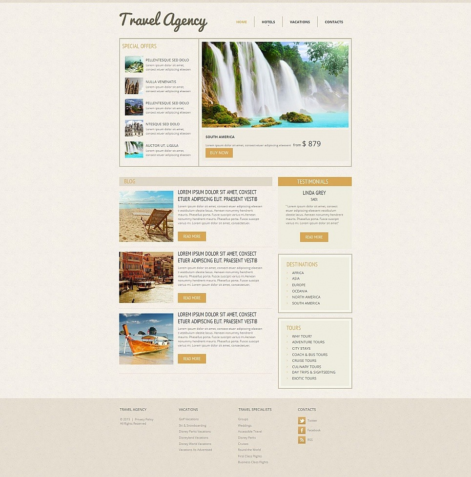 Travel Agency Moto CMS HTML Template New Screenshots BIG