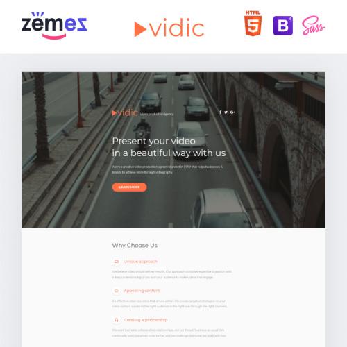 Vidic - Responsive Landing Page Template