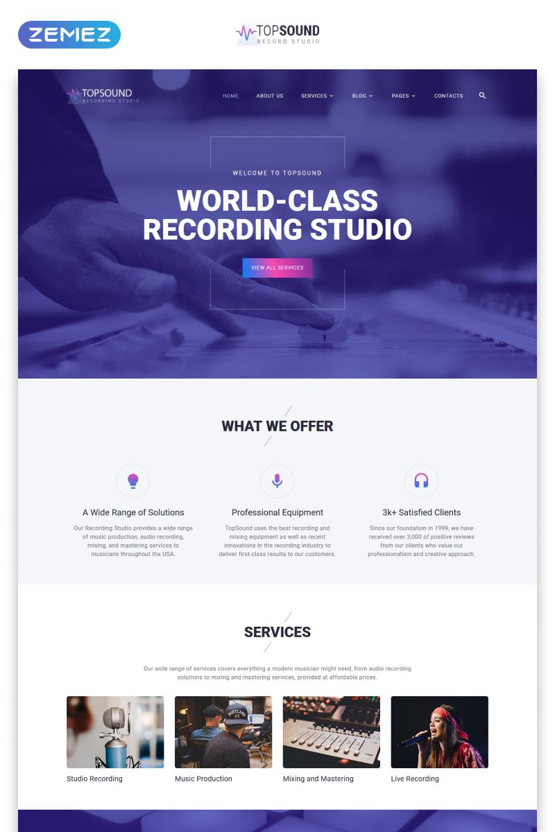 "Website Vorlage namens ""TopSound - Recording Studio Modern Multipage HTML"" #55387"
