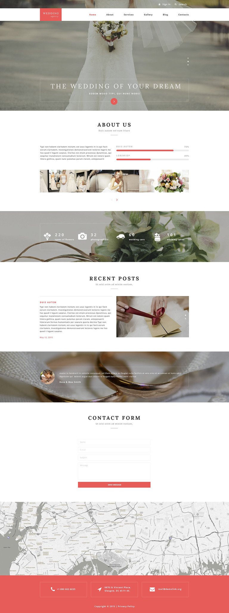Wedding Agency Drupal Template New Screenshots BIG