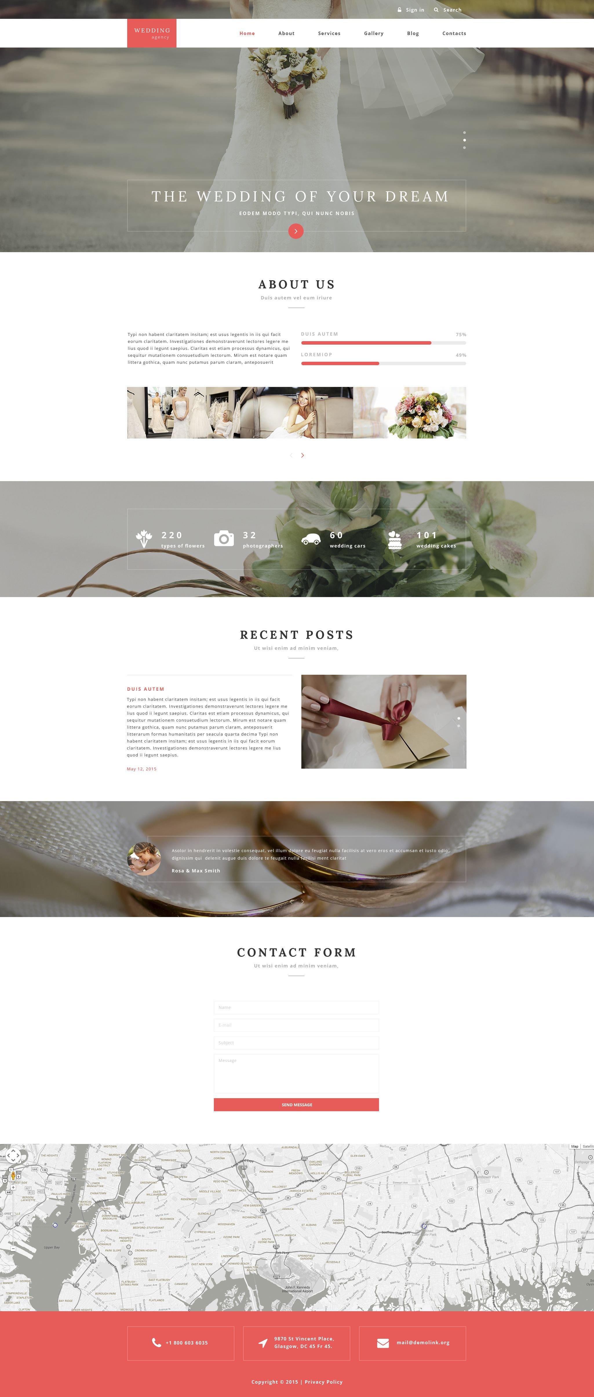 """Wedding Agency"" Responsive Drupal Template №55366"