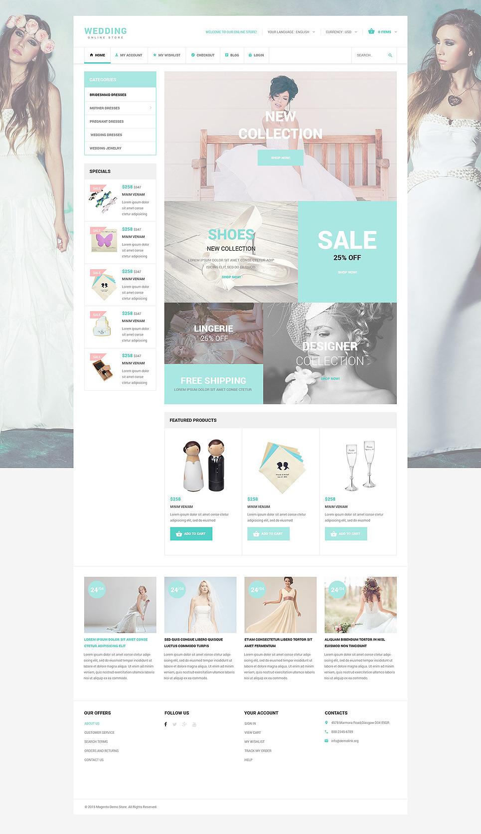 Wedding OsCommerce Template New Screenshots BIG