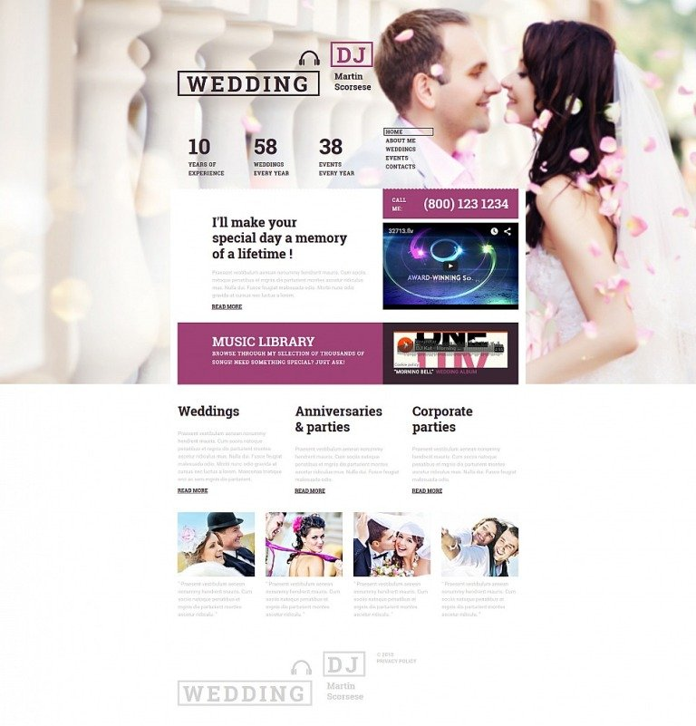 Wedding Responsive Moto CMS 3 Template New Screenshots BIG