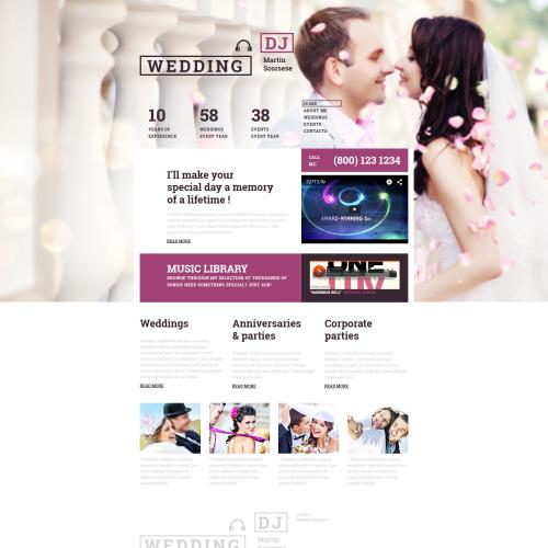 Wedding - MotoCMS 3 Template based on Bootstrap