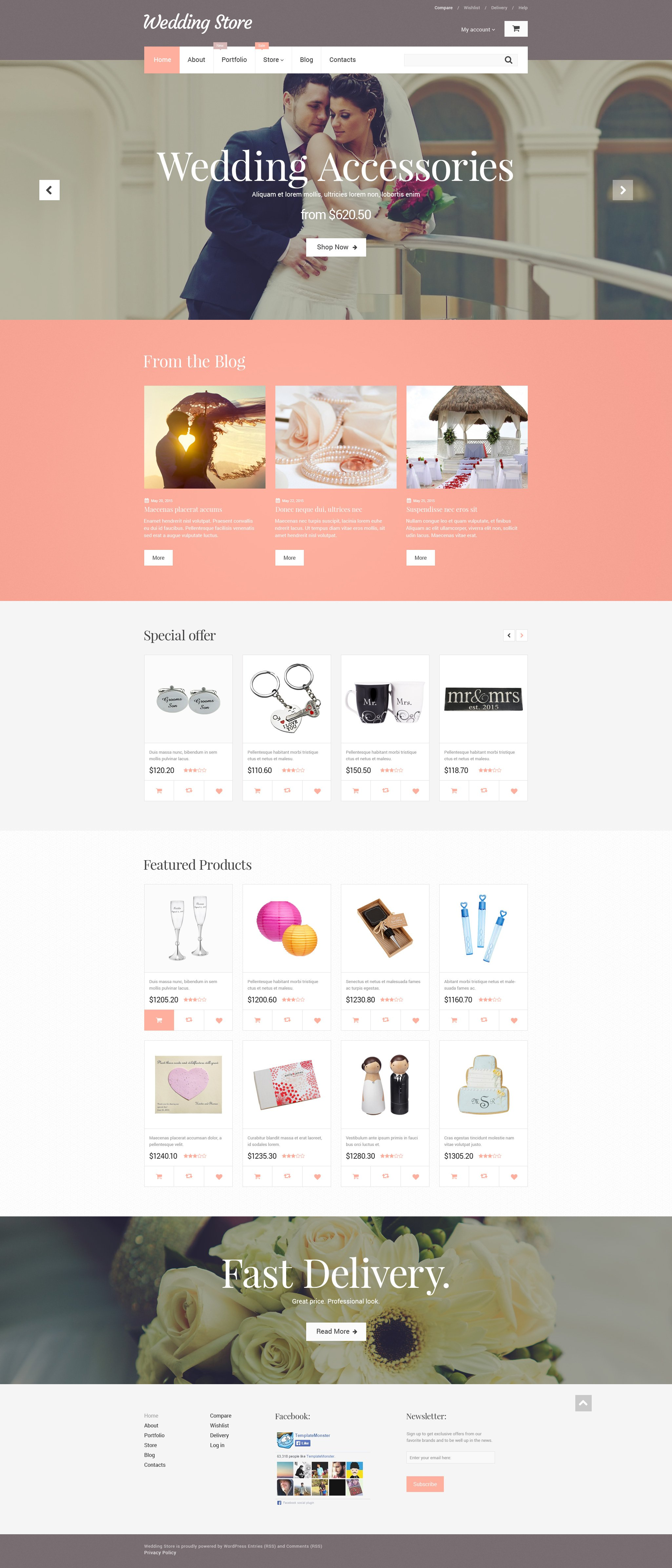 Wedding Store WooCommerce Theme - screenshot