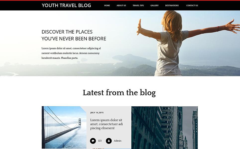 Responsive Website template over Reizen New Screenshots BIG