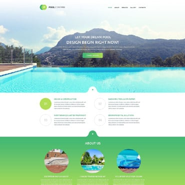Preview image of Pool Company Bootstrap Theme