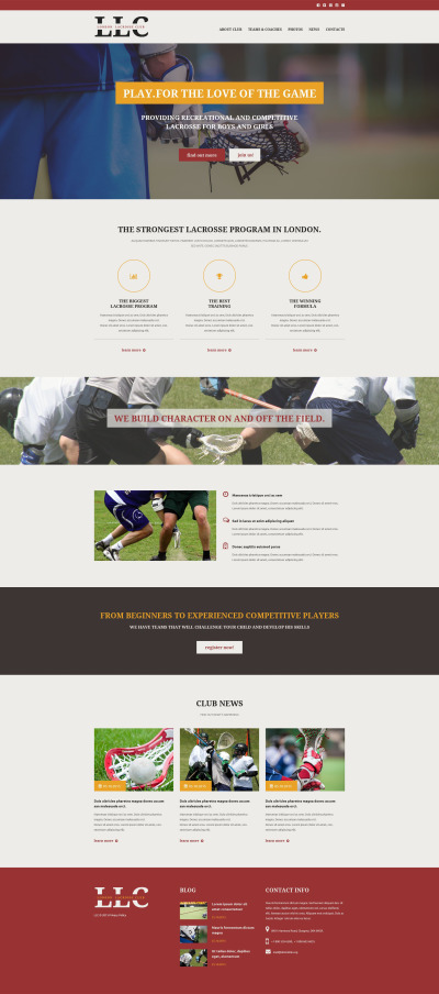Sport Responsivt Hemsidemall