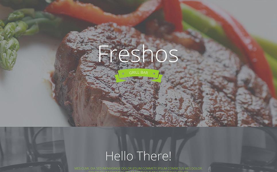 Responsive Landingspagina Template over Café en Restaurant New Screenshots BIG