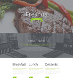 Cafe & Restaurant Landing Page  Template 55414
