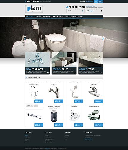 ZenCart Template 55417 Main Page Screenshot