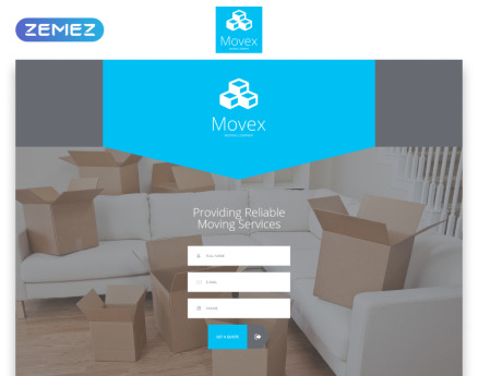 Movex - Moving Company Modern HTML Landing Page Template