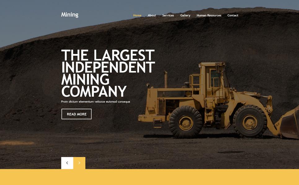 Tema Siti Web Responsive #55434 per Un Sito di Compagnia Mineraria New Screenshots BIG