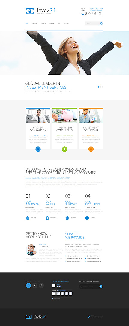 Joomla Theme/Template 55437 Main Page Screenshot