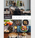 Cafe & Restaurant WordPress Template 55438