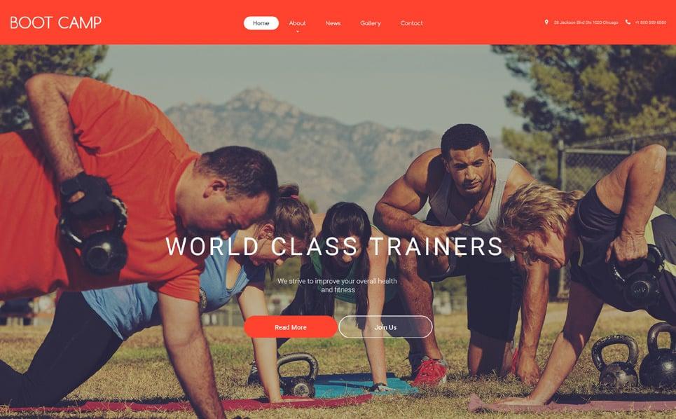 Responsywny szablon strony www #55440 na temat: sport New Screenshots BIG