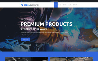 Steel Industry Website Template