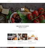 Cafe & Restaurant Website  Template 55450