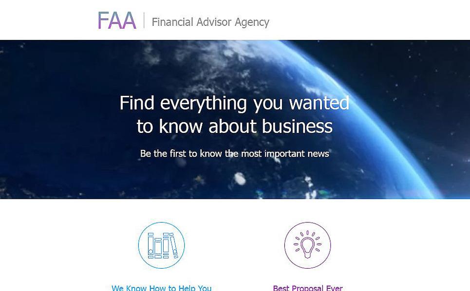 Modèle Bulletin adaptatif  pour un conseiller financier New Screenshots BIG