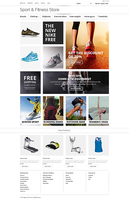 osCommerce Template 55461 Main Page Screenshot