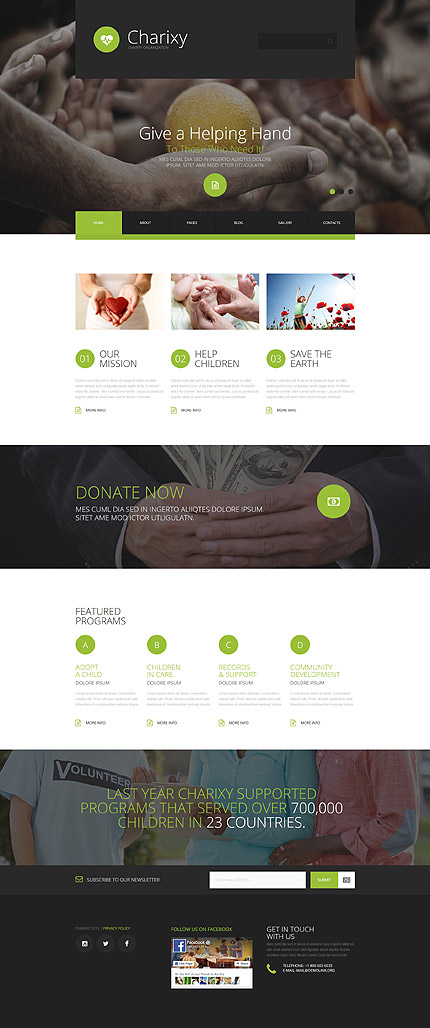 Joomla Theme/Template 55462 Main Page Screenshot