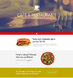 Cafe & Restaurant Landing Page  Template 55463