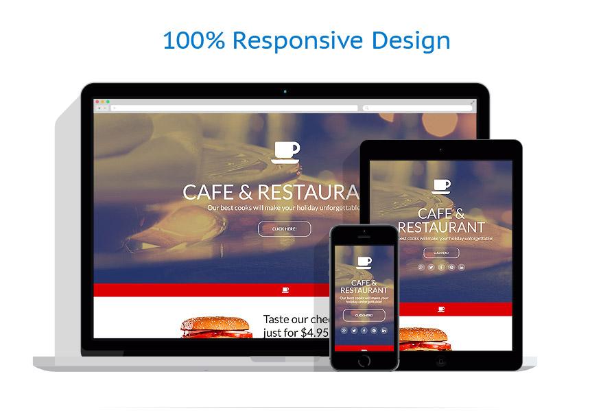 Modèles de Page d'Accueil Café et Restaurant #55463
