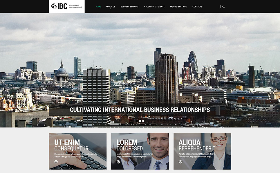 Template Web Flexível para Sites de Business & Services №55478 New Screenshots BIG