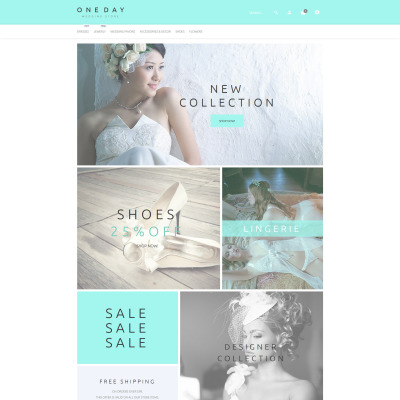 Bröllopsbutik Responsivt PrestaShop-tema