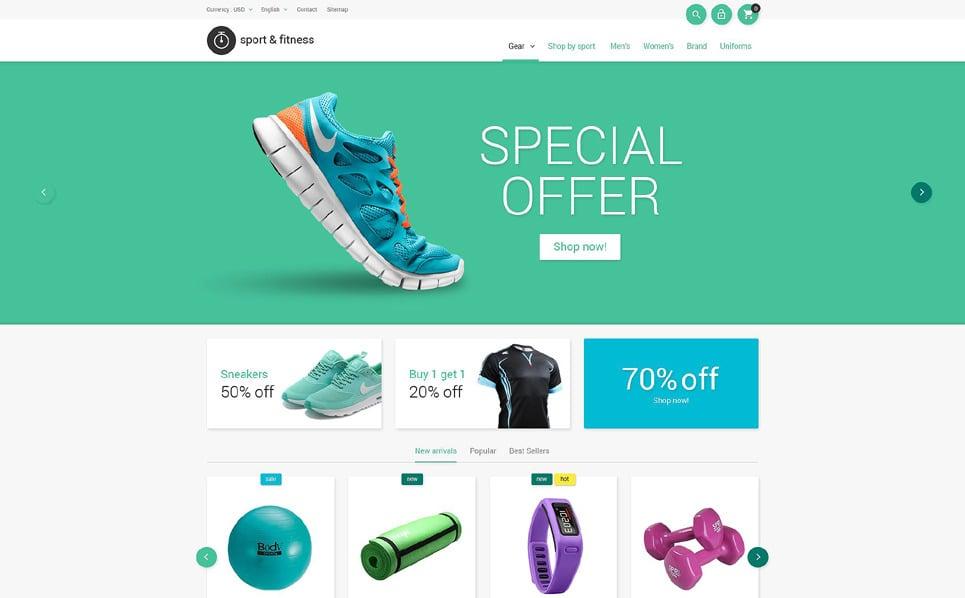 Reszponzív Fitnessz PrestaShop sablon New Screenshots BIG