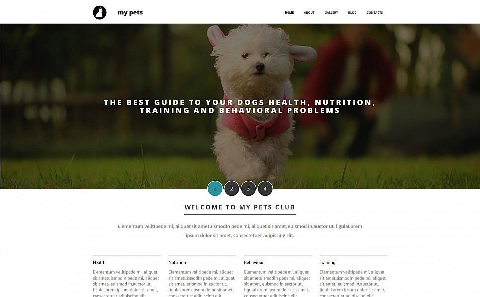 Responzivní Moto CMS 3 šablona na téma Obchod pro zvířata New Screenshots BIG