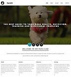 Animals & Pets Moto CMS 3  Template 55492