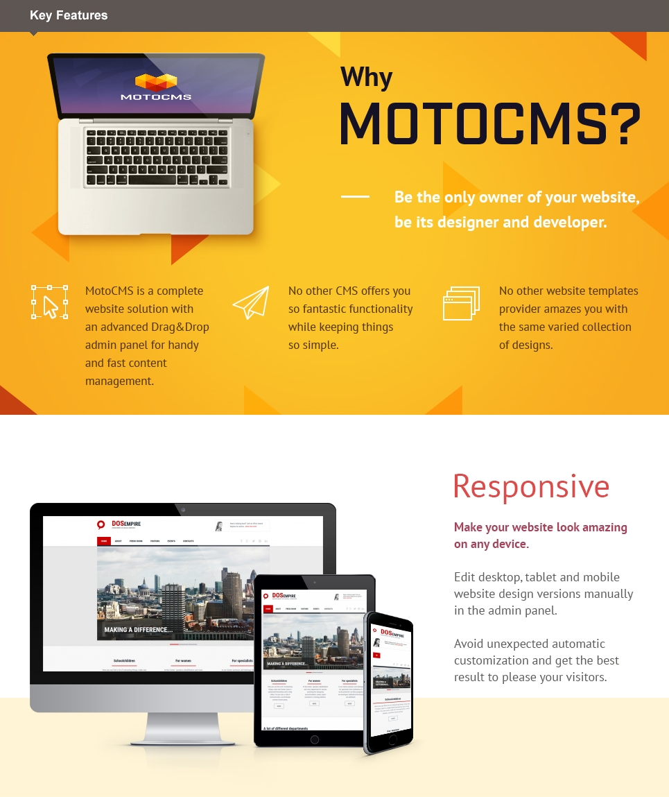 Social Foundation Responsive Moto CMS 3 Template