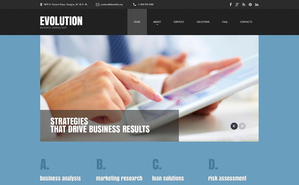 Адаптивный HTML шаблон №55407 на тему бизнес и услуги New Screenshots BIG