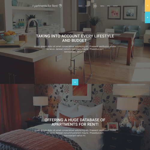 Apartments For Rent - Joomla! Template based on Bootstrap