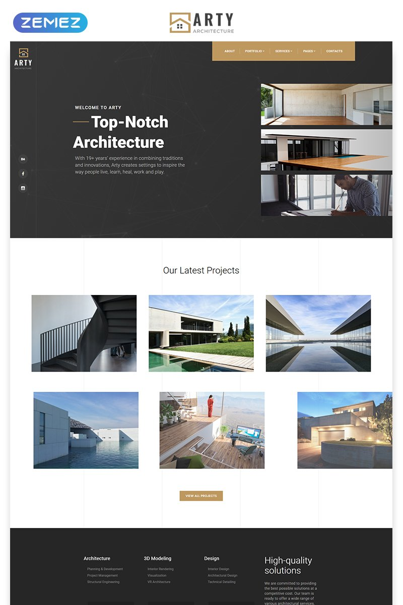 Arty - Architecture Multipage Creative Bootstrap HTML5 Website Template - screenshot
