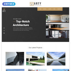 Arty Architecture Multipage Creative Bootstrap Html5