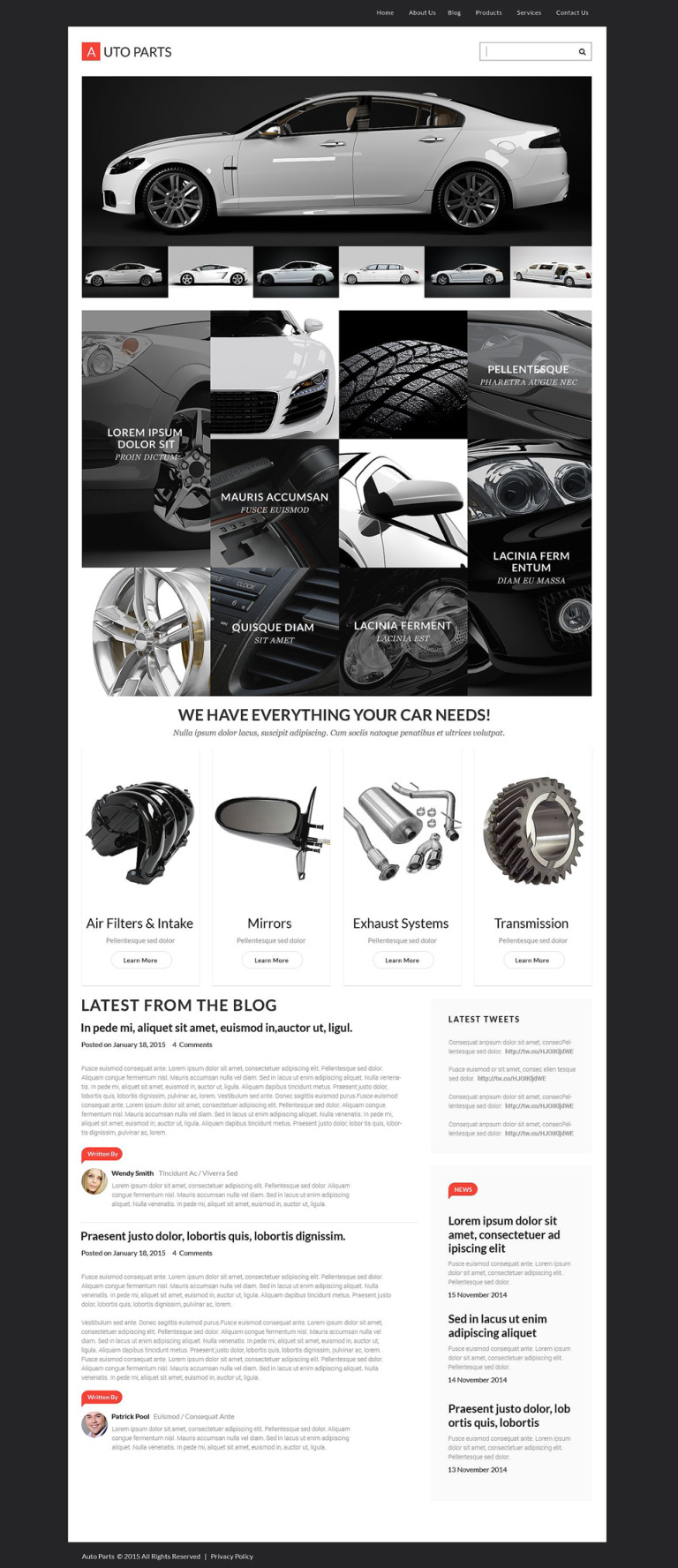 Auto Parts Responsive WordPress Theme New Screenshots BIG