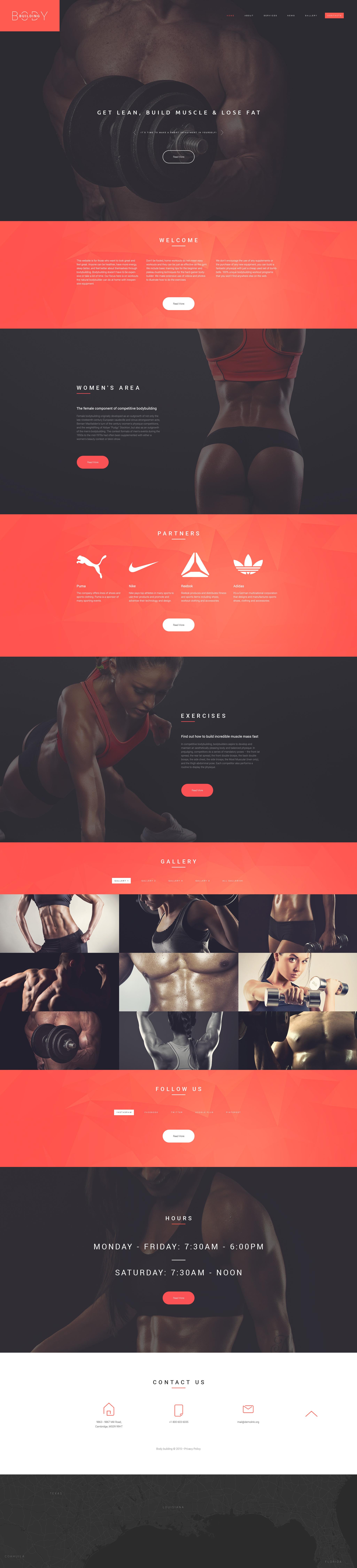 Bodybuilders' Club Website Template