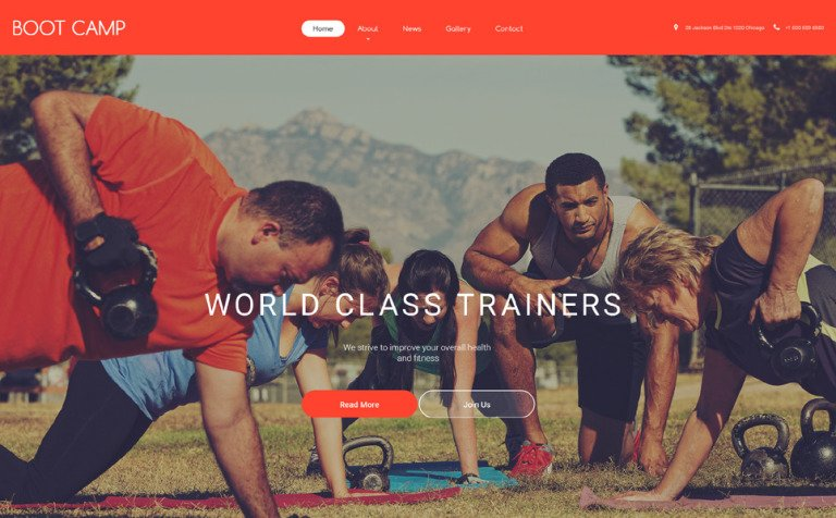 20 Sports Website Themes & Templates