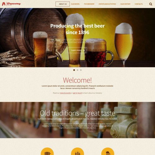 Brewery - WordPress Template based on Bootstrap