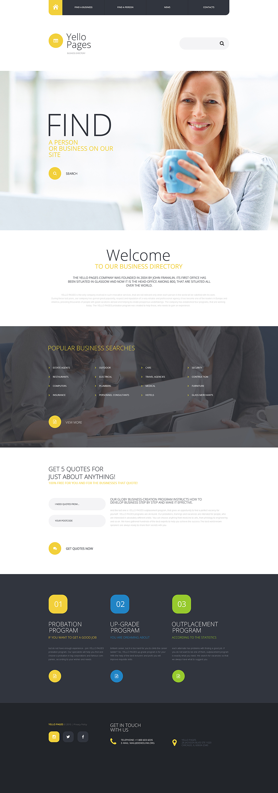 Demo preview for business directory website template 55443 wajeb Images