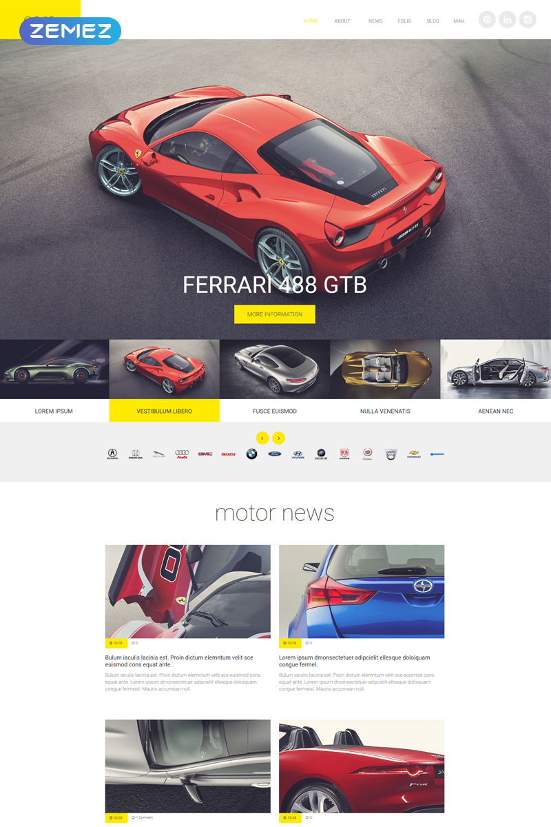 Cars Joomla Template - screenshot