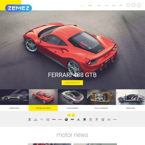 Cars - Joomla! Template based on Bootstrap