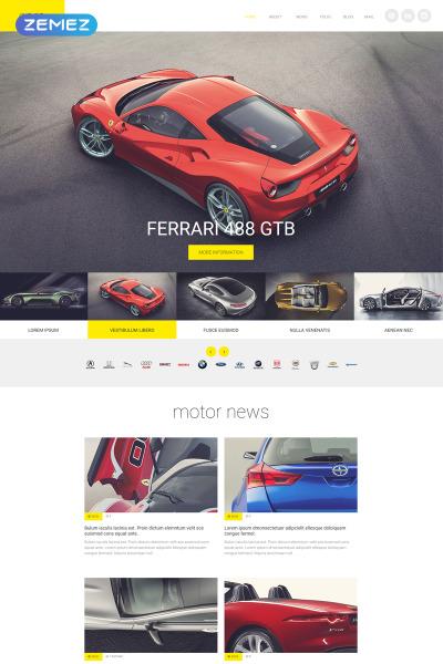 Flexível template Joomla №55424 para Sites de Clube de Carros