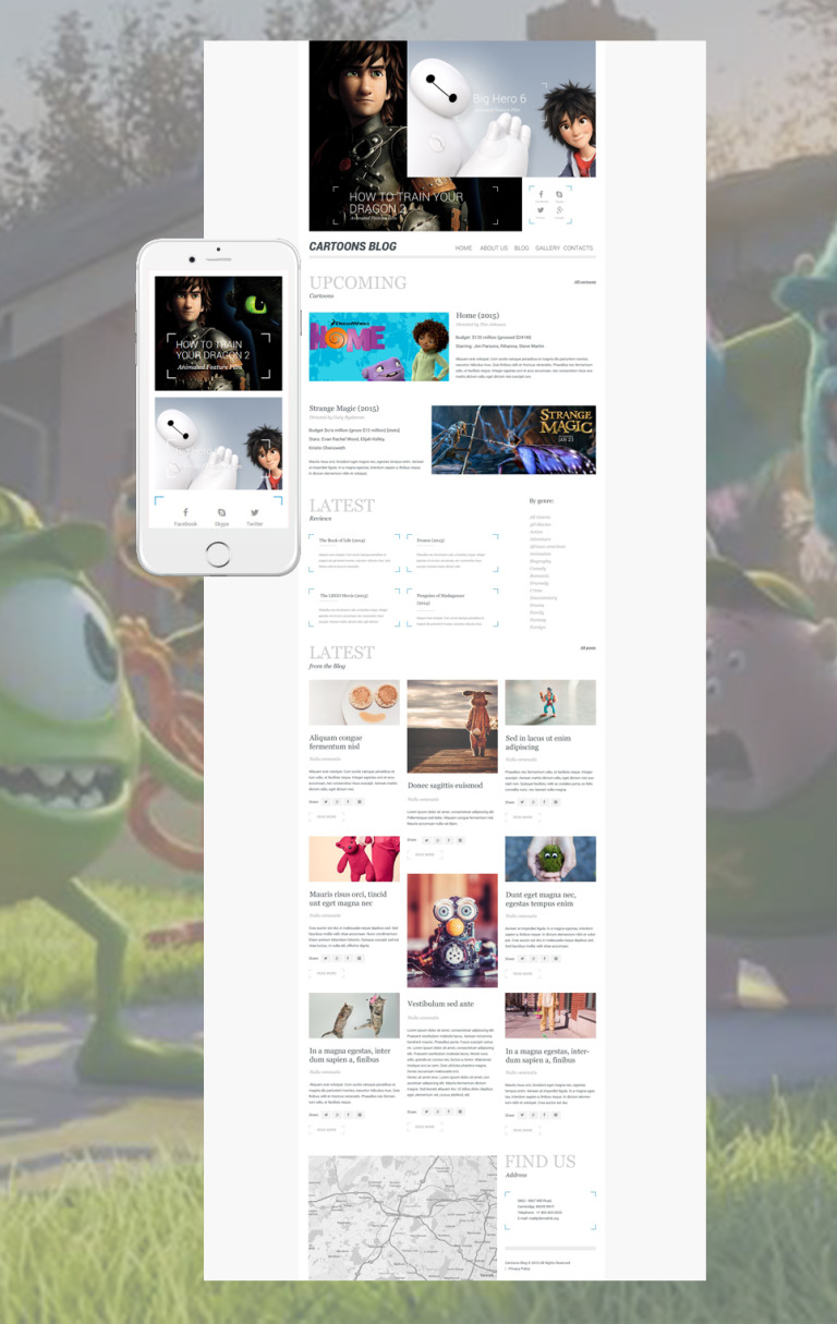 Cartoons Blog WordPress Theme New Screenshots BIG