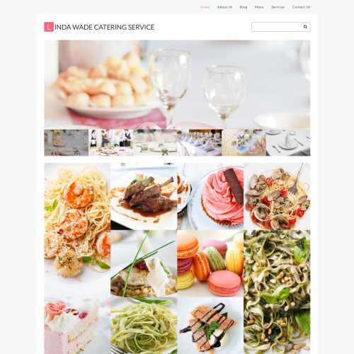 Linda Wade Catering Service - WordPress Template based on Bootstrap