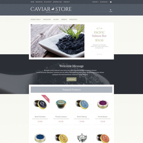 Caviar Store - OpenCart Template based on Bootstrap