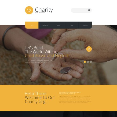 Charity Org - Joomla! Template based on Bootstrap