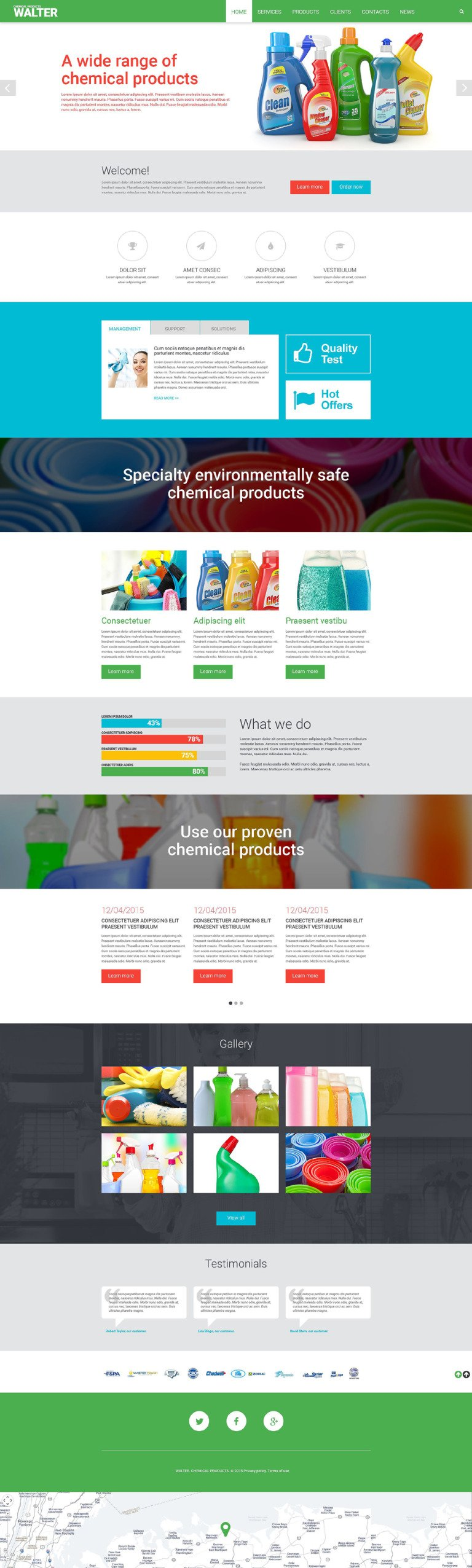 Chemical Products Website Template New Screenshots BIG